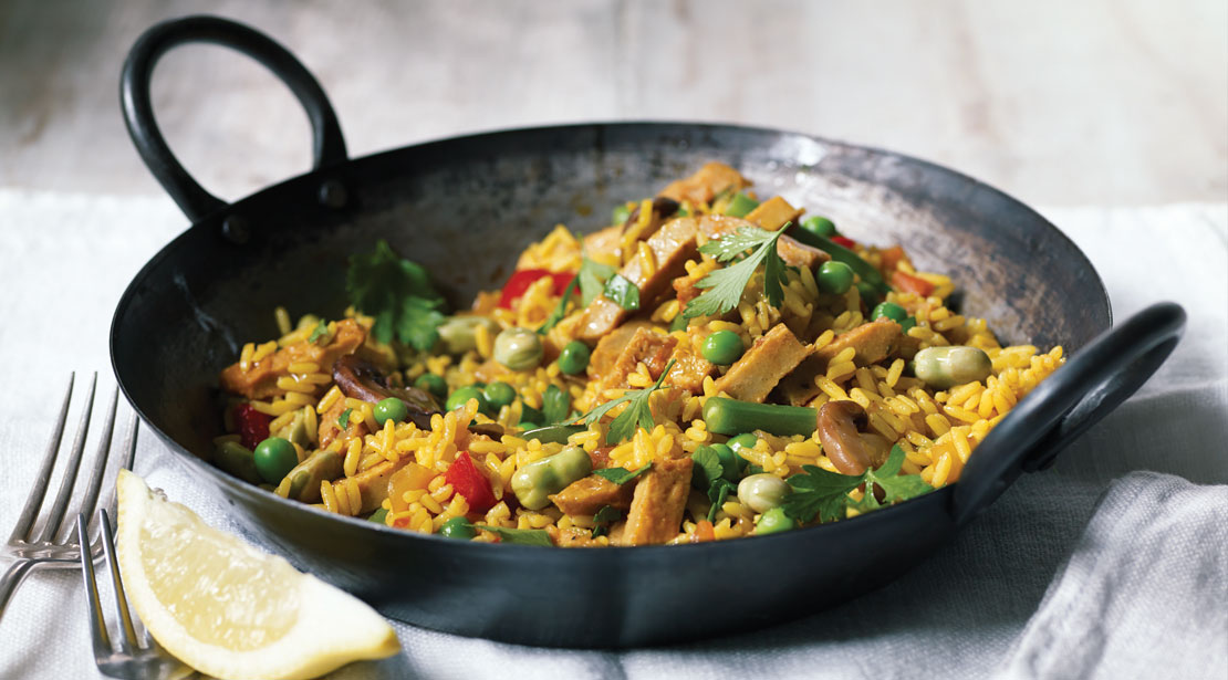 Vegetarian Chicken Paella